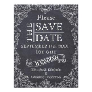 Vintage frame & chalkboard wedding Save the Date Personalized Invitation