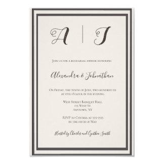 Vintage frame elegant rehearsal dinner invitations