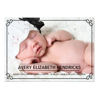 Vintage Frame | Photo Birth Announcement