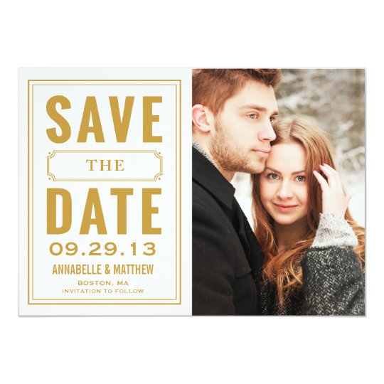 Vintage Frame Save the Date Announcement