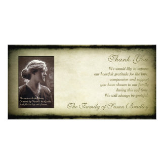 Vintage Frame Sympathy Thank You Photo H Card