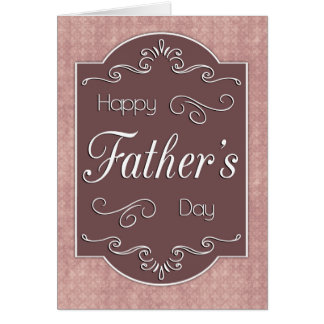 Vintage Frame w/ Mauve Background for Father's Day Card