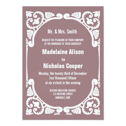Vintage Frame Wedding Invitation Zazzle