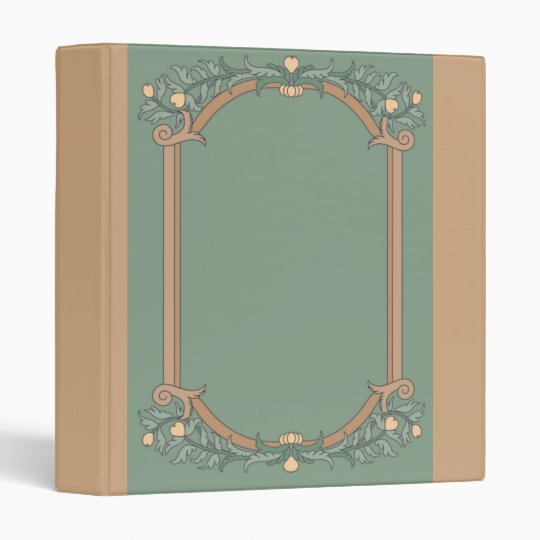 Vintage Frame With Scrolling and Flowers 3 Ring Binder