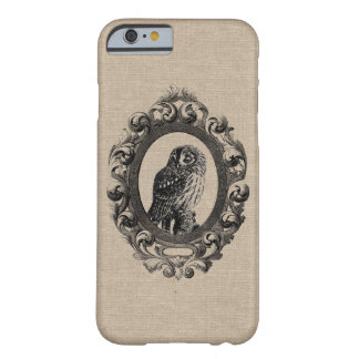 Vintage framed owl bird owls birds rustic chic pri barely there iPhone 6 case