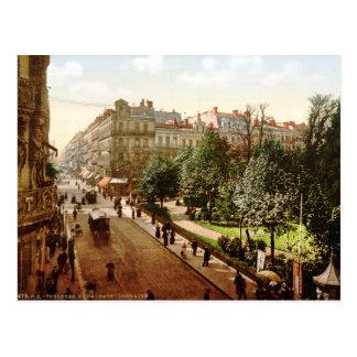 Vintage France, Alsace-Lorraine Street, Toulouse Postcard