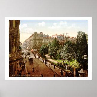 Vintage France Alsace-Lorraine Street Toulouse Print