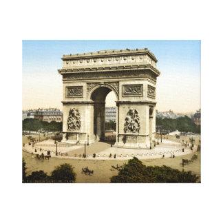 Vintage France, Arc de Triomphe 1904 paris print Canvas Print