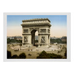 Vintage France, Arc de Triomphe monument Paris Poster