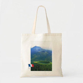 Vintage France Auvergne Volcano crater Tote Bags