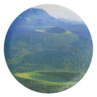 Vintage France Auvergne Volcano crater Plate