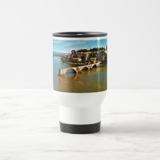 Vintage France, Avignon; broken bridge Travel Mug