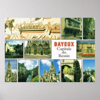Vintage France, Bayeux, Capitale de Bessins Poster