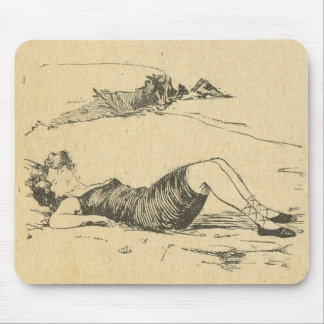 Vintage France, Belle Epoch, A day in the country Mouse Pad