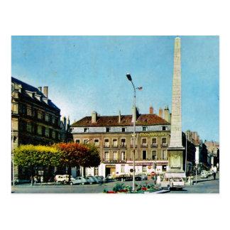 Vintage France, Chalons sur Saone, Obelisk Postcard