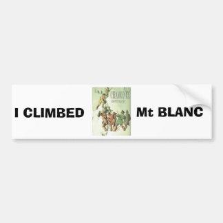 Vintage France Chamonix Mt Blanc Bumper Sticker