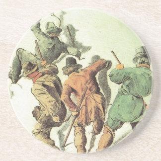 Vintage France Chamonix Mt Blanc Coasters