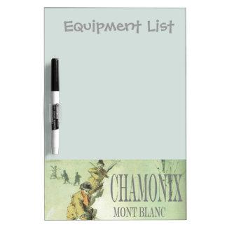 Vintage France Chamonix Mt Blanc Dry-Erase Whiteboards