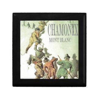 Vintage France Chamonix Mt Blanc Trinket Box