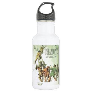 Vintage France, Chamonix, Mt Blanc Water Bottle