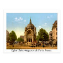 Vintage France, Église Saint-Augustin, cartes postale