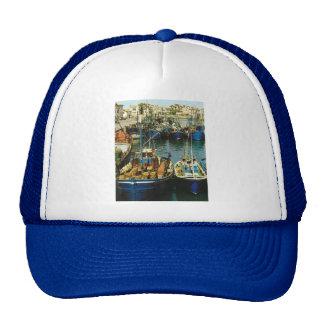 Vintage France, Fishing boats, St Jean de Luz Trucker Hat