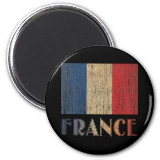 Vintage France Flag 2 Inch Round Magnet