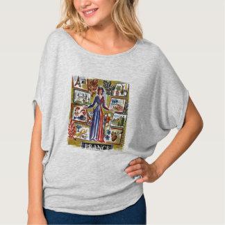 Vintage France Graphic Design T-Shirt