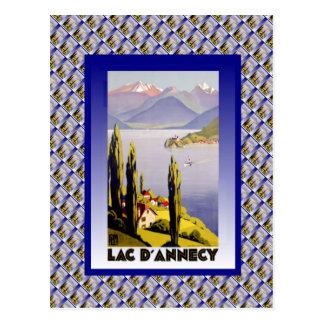 Vintage France, Lac d'Annecy Postcard