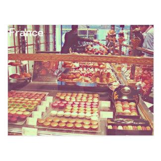 Vintage France macaroon macaron shop Postcard