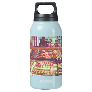Vintage France macaroon shop Insulated Water Bottle