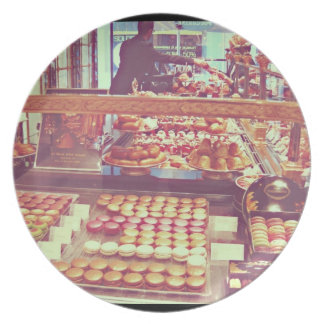 Vintage France macaroon shop Plates