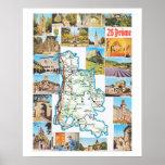 Vintage France, map, Drome Print