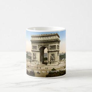 Vintage France mug, Arc de Triomphe Monument Paris