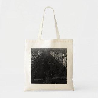 Vintage France Paris champs elysees avenue 1970 Tote Bag