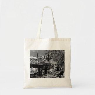 Vintage France Paris Dame Cathedral booksellers Tote Bag