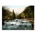 Cru carte postales Françe, Pique waterfall
