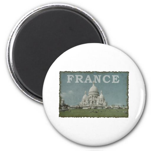 Vintage France Refrigerator Magnets