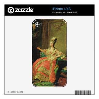 Vintage France Regency fashionable lady Skins For iPhone 4S