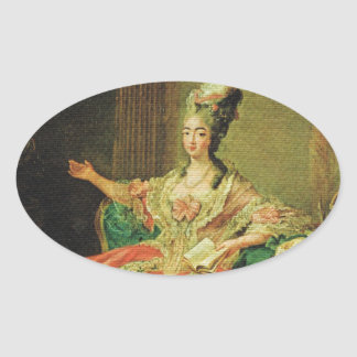 Vintage France Regency fashionable lady Stickers