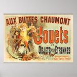 Vintage francés de los amigos del poster de Joets