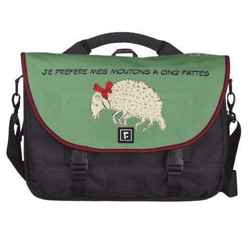 Vintage francés del Mouton de las ovejas Cinco-Leg Bolsas Para Ordenador
