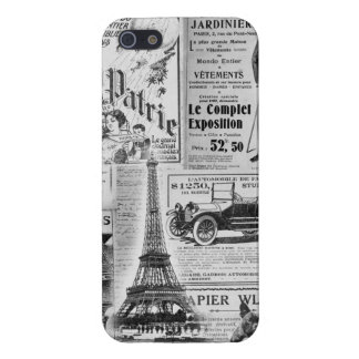 Vintage francés Eiffel iPhone 5 Coberturas