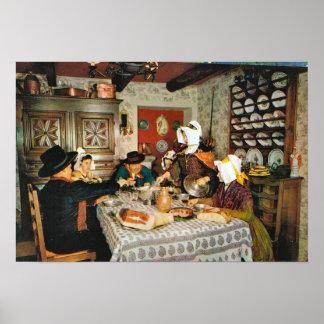 Vintage Francia Auvergne comida tradicional de l Posters