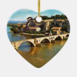Vintage Francia, Aviñón; puente quebrado Adornos De Navidad