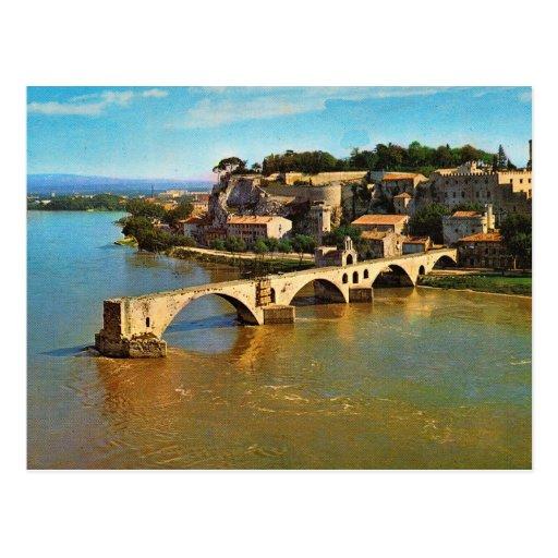 Vintage Francia, Aviñón; puente quebrado Tarjeta Postal