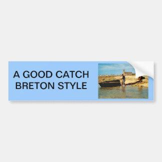 Vintage Francia, Bretaña, varando   los barcos de  Pegatina Para Auto