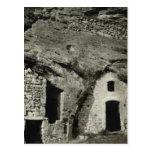 Vintage Francia, casas de la cueva de Bollene Tarjetas Postales