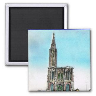 Vintage Francia, catedral de la reproducción de St Imán Cuadrado