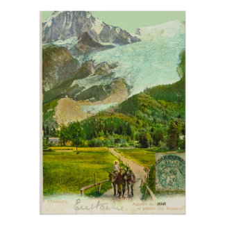 Vintage Francia, Chamonix 1907 Póster